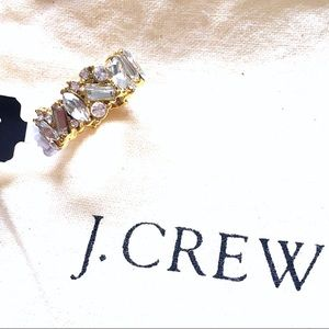 J. Crew Mini Stone Crystal Cluster Stacking Ring